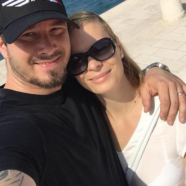 Aleš Potrč skupaj s svojo sedanjo partnerko Jasmino Potrč javno prodaja zdrav življenjski slog in se rad kaže na Rdečih noskih. (vir: Facebook)