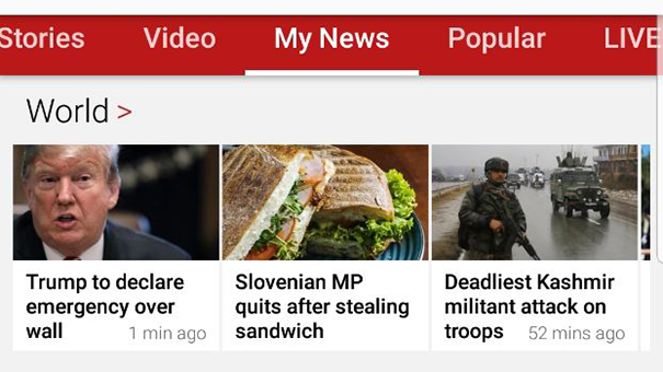 Vir: naslovnica spletnega portala BBC. Krajčič takoj za Trumpom!<br>
