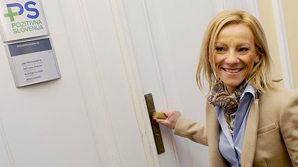 Barbara Žgajner, ko je bila še poslanka Pozitivne Slovenije.