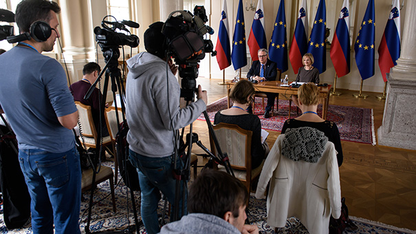 27. februar: Marko Pavliha med predstavitvijo svoje kandidature za sodnika v Luksemburgu.