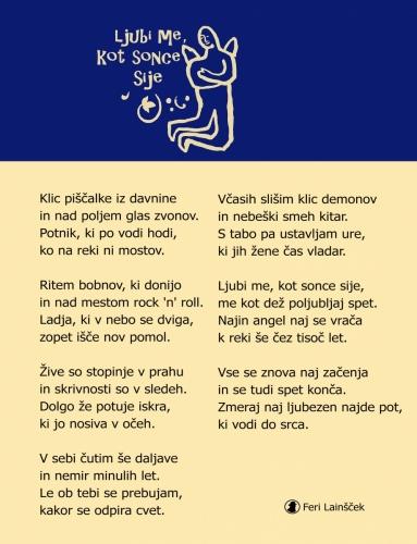 Feri Lainšček: Ljubi me, kot sonce sije<br> #ferilainscek