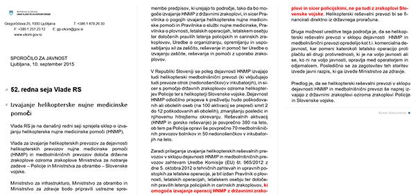 Vir: Vlada republike Slovenije