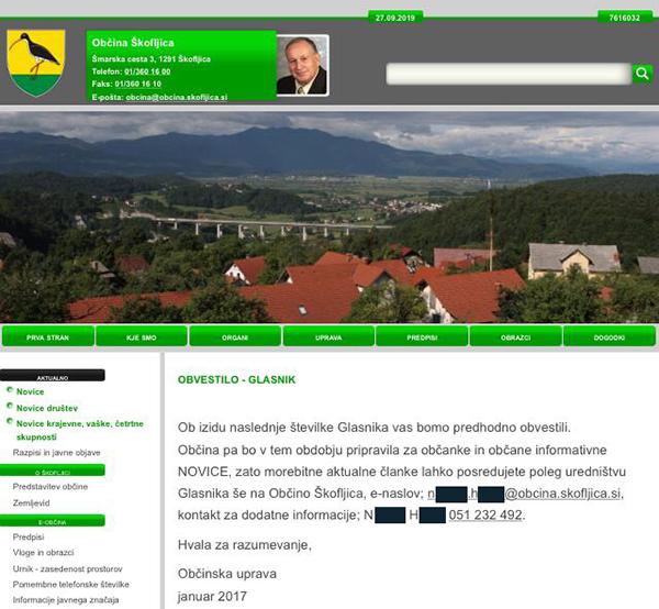 Vir: Spletna stran občine Škofljica