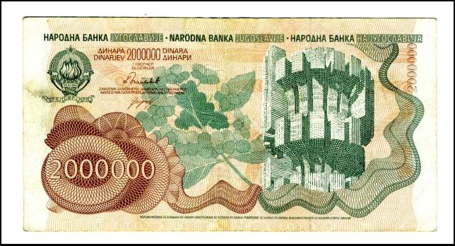 BANKOVEC ZA 2 000 000 DINARJEV<br> Inv. št.: Nm 6060