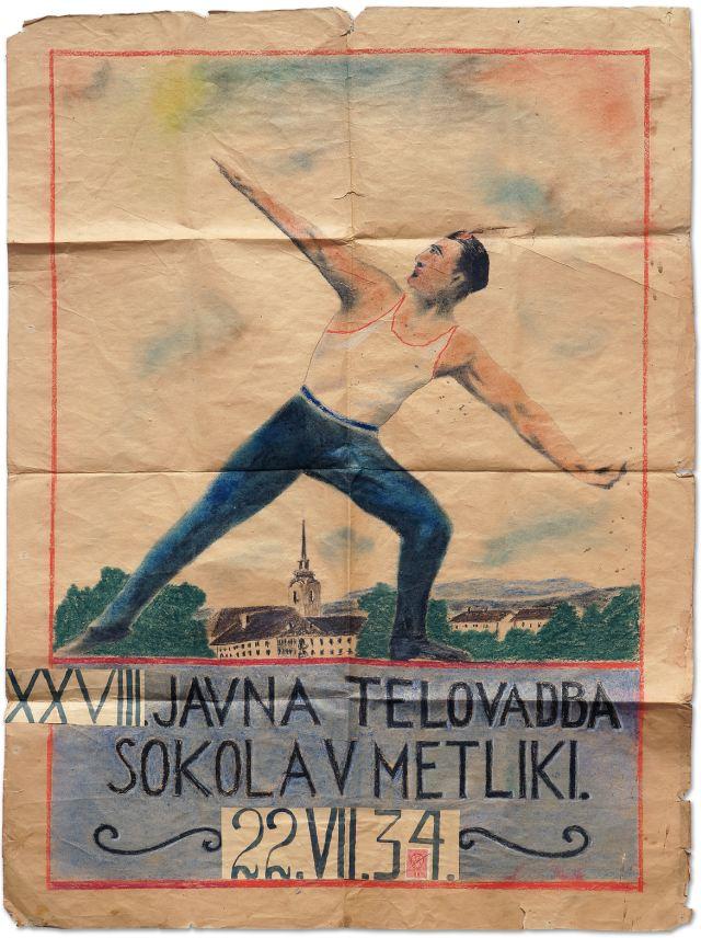 SOKOLSKI PLAKAT<br>1934, Metlika<br>116 x 81 cm<br>Inv. št.: PL 123