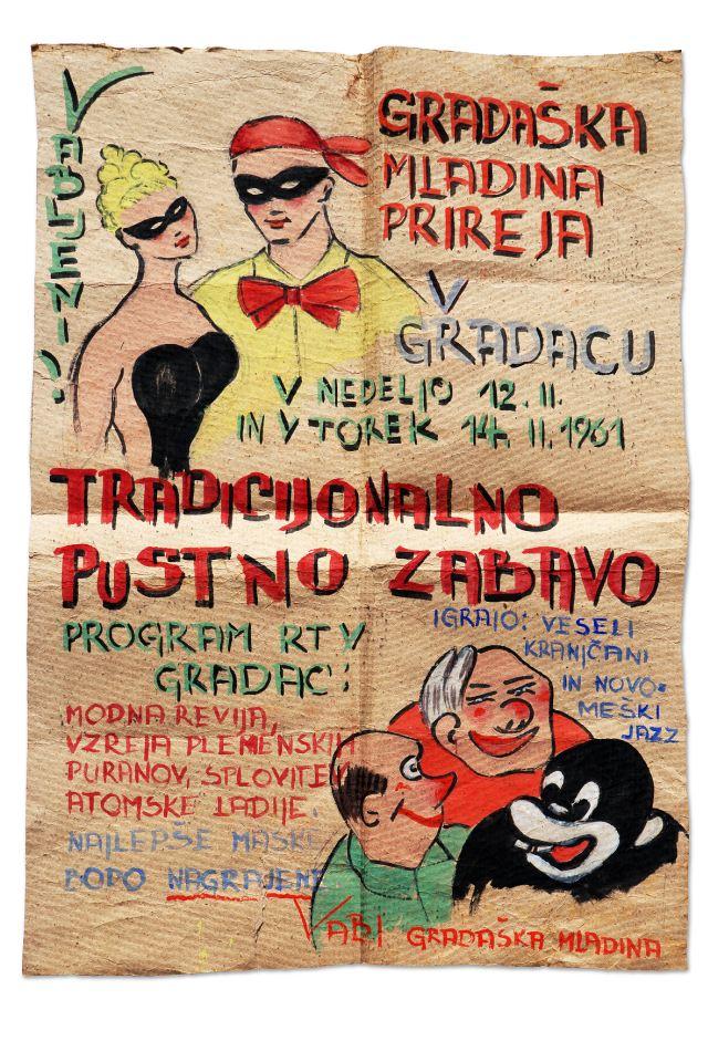 PUSTNI PLAKAT<br>1961, Gradac<br>101 x 67 cm<br>Inv. št.: PL 25