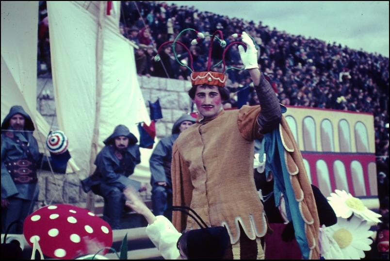 1966<br>Metlika - pustovanje - gadji princ<br>3,5 x 4 cm<br>Inv. št.: E154