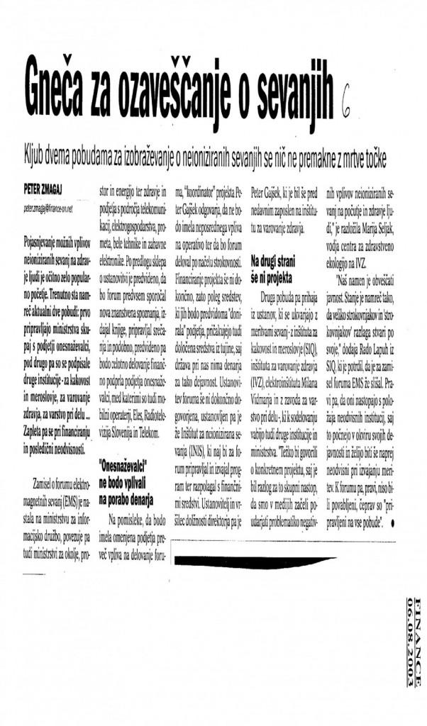 Vir: Finance, 6. 8. 2003