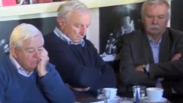Milan Kučan, Franci Perčič in Marjan Šiftar (vir: Top TV, zaslonska fotografija)