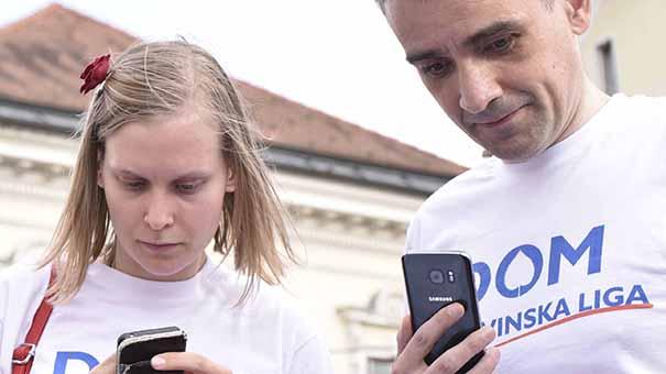 Norma Korošec in Bernard Brščič (foto: Bobo)