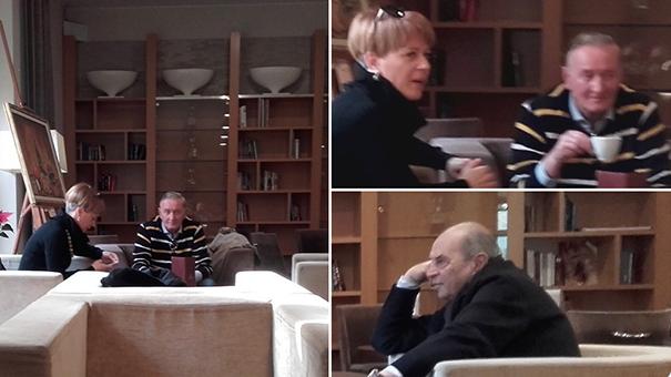 Aleksandra Pivec, Gorazd Žmavc in Roman Glaser v hotelu Primus na Ptuju.