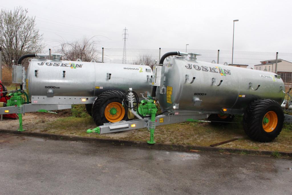 Pomemben segment zavzema prodaja cistern za gnojevko in trosilnikov hlevskega gnoja Joskin