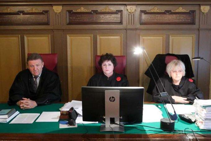Od leve proti desni: Milan Štrukelj, Stanka Živič in Tatjana Merčun, famozna trojka sodnikov, ki so potrdili obsodilno sodbo zoper Milka Noviča in ki hočejo ponovno soditi v tem primeru. Ta sodniška trojka se ponovno zlorablja za nezakonito in protiustavno sojenje.