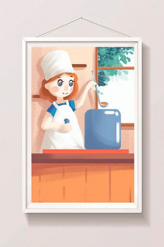 Candy color flat insert style kitchen food illustration#pikbest#templates
