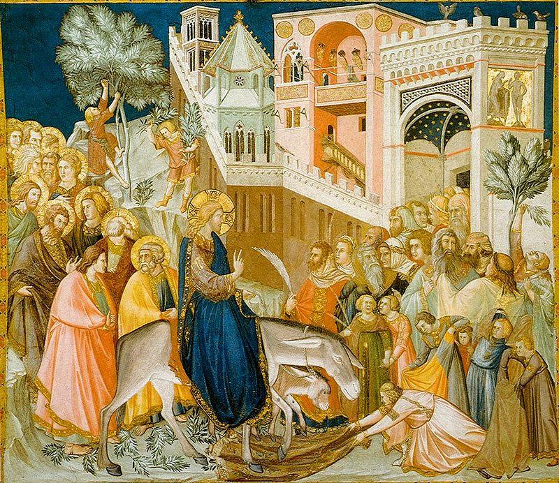 Pietro Lorenzetti, Kristusov prihod v Jeruzalem