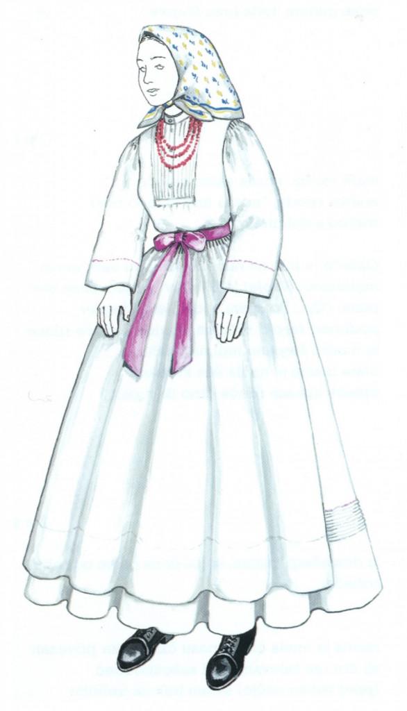 NEDELJSKA DEKLIŠKA OBLEKA, Zilje, leta 1920<br>