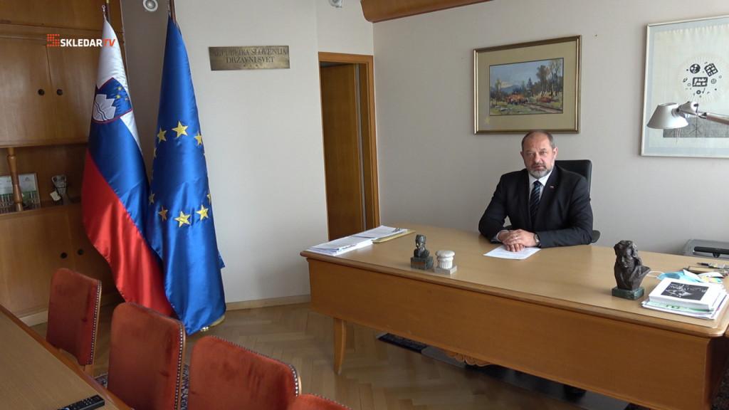 Alojz Kovšca, predsednik Državnega sveta RS, 21. april 2020<br>(Avtor: Milan Skledar)