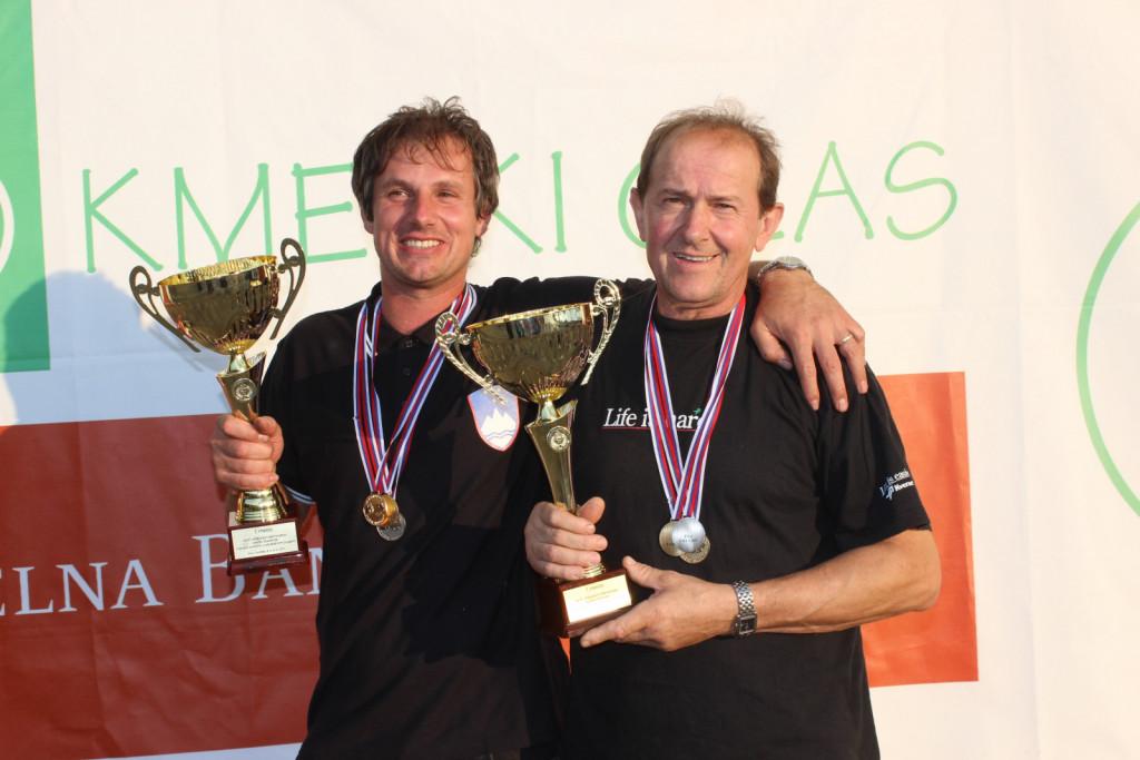 Igor Pate (levo) in Anton Filak bosta kot aktualna državna prvaka iz leta 2019 barve Slovenije na svetovnem tekmovanju zastopala šele  prihodnje leto v Rusiji. <br>