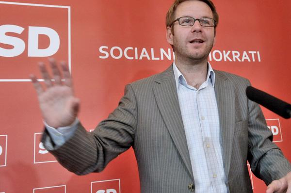 Uroš Jauševec, ko je bil še generalni sekretar Socialnih demokratov