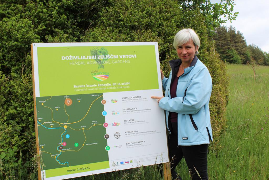 V projektu Doživljajski zeliščni vrtovi sodeluje tudi kmetija Vrhivšek