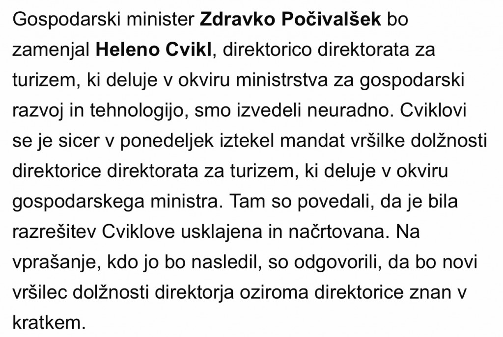 Vir: Dnevnik, 18.6., avtor prepisane informacije pa je novinar Sebastjan Morozov.