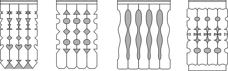 Različne vrste rezljanih okraskov