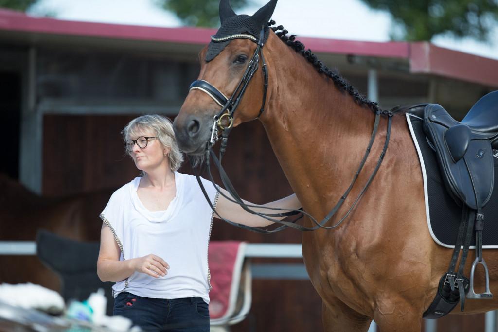 »Iščite povezavo s konjem, ne le mehanskega izvajanja dresurnih elementov.«
