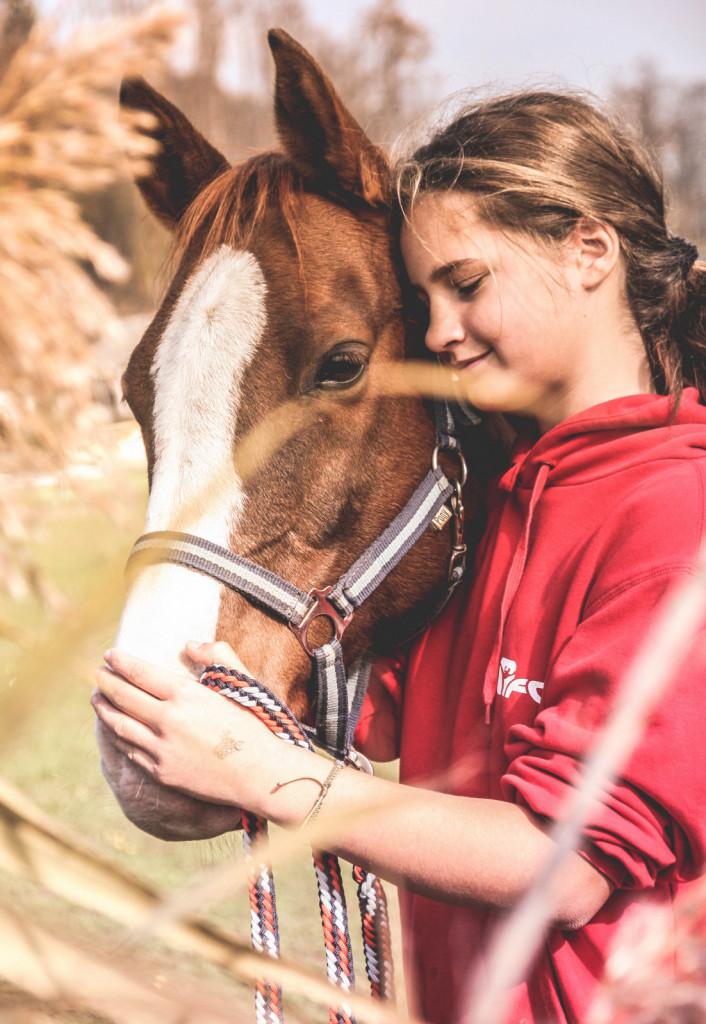 Povezovanje s konji in hormon oksitocin