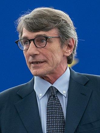 <br> Predsednik Evropskega parlamenta David Sassoli