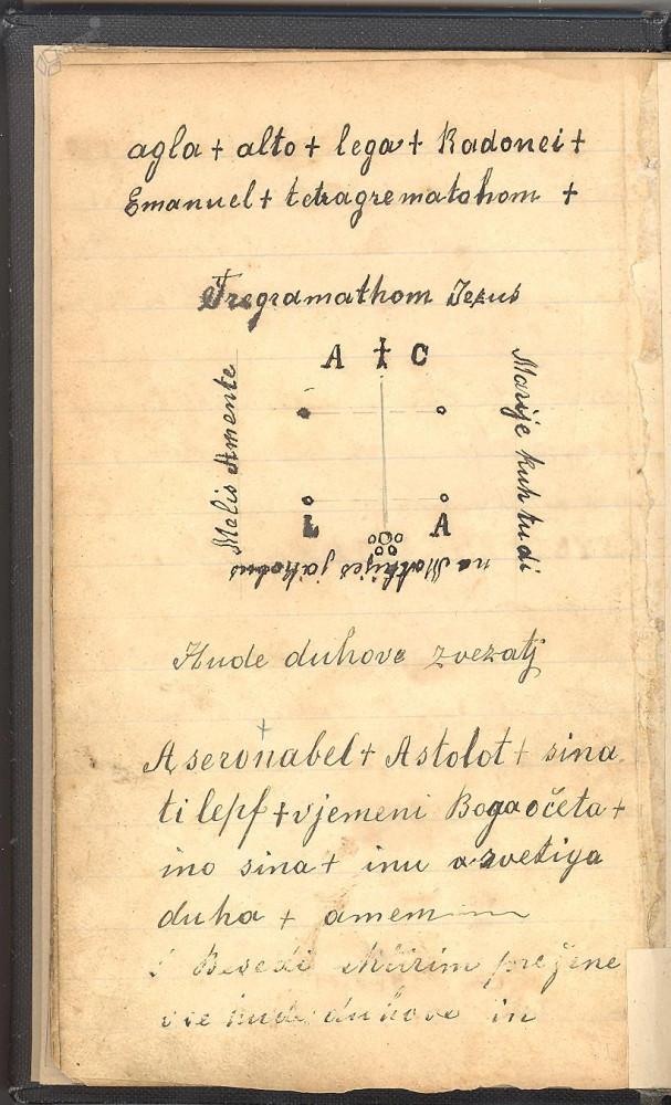 Kolomonov žegen, zarotitvena besedila (vir: Kamra)