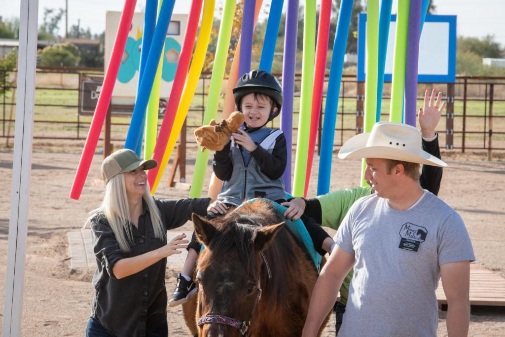 Konj je del terapevtskega tima in mora biti predvsem zanesljiv in varen.
