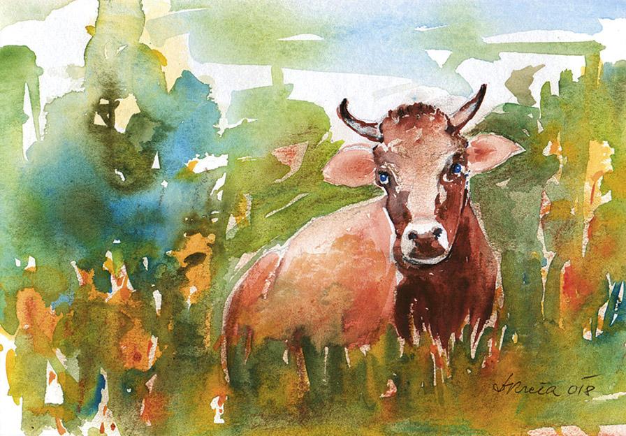 Nagrajena slika z natečaja Zveze kmetic Slovenije