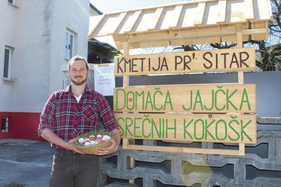 Žiga Štrukelj, ponosni kmetovalec iz prestolnice