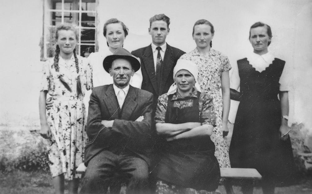 Matevž z družino, prvi Jaznikar brez moškega potomca