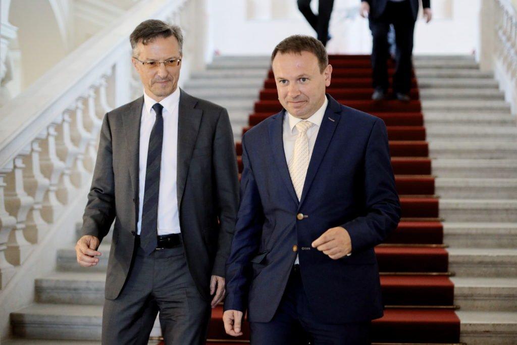 Trenutna manjšinska predstavnika italijanske in madžarske narodne skupnosti v slovenskem parlamentu Felice Žiža in Ferenc Horváth