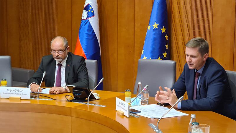 Predsednik Državnega sveta RS, g. Alojz Kovšca in predsednik Državnega zbora RS, mag. Igor Zorčič (Foto: M: Skledar)