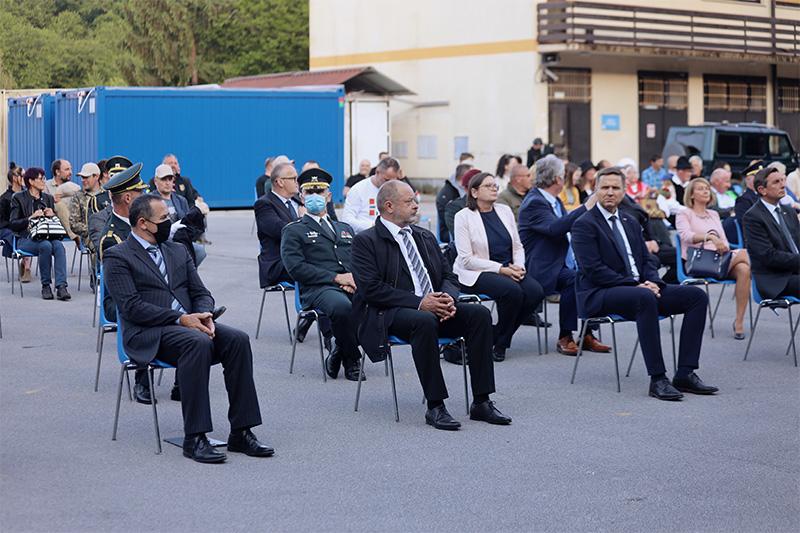 Predsednik DS RS Alojz Kovšca se je v Izobraževalnem centru za zaščito in reševanje na Igu, 1. junija 2021, udeležil slovesne obeležitve 30. obletnice prve zaprisege slovenskih vojakov. Foto: M. Skledar)