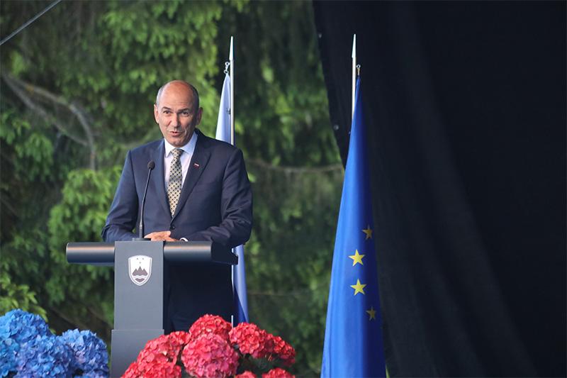 Predsednik vlade RS, Janez Janša (Foto: M. Skledar)