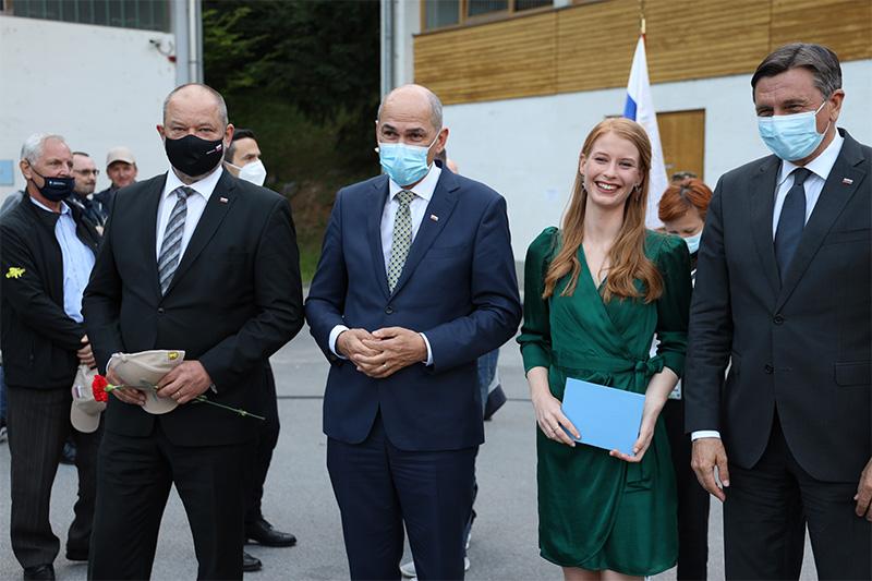 Izobraževalni centr za zaščito in reševanje na Igu, 1. junija 2021, slovesna obeležitev 30. obletnice prve zaprisege slovenskih vojakov. Foto: M. Skledar)