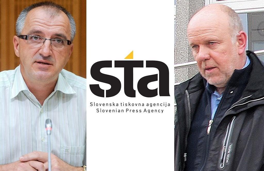 Direktor STA Bojan Veselinovič in Martin Odlazek. (Foto: Facebook)
