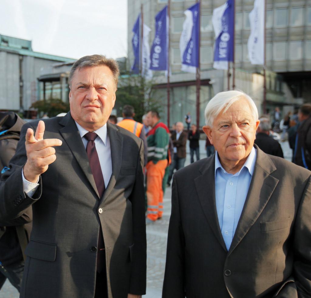 Zoran Jankovič in Milan Kučan. (Foto: Posnetek zaslona-Nova24tv)