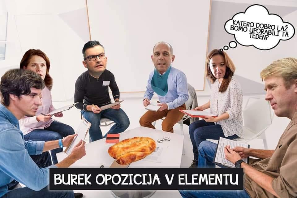 Satirična slika koalicije KUL, ko so promovirali Jožeta P. Damijana za bodočega mandatarja. (Foto: Posnetek zaslon Davorin Kopše, Facebook)