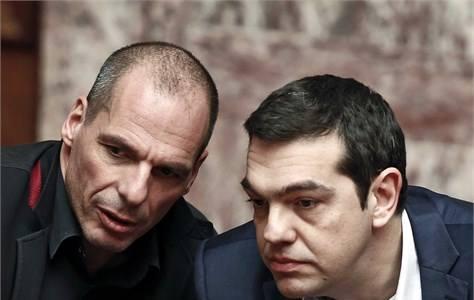 Finanči guru t.i radikalne globalistične levice Yanis Varufakis in Aleksis Cipras. (Foto: Facebook)