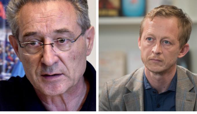 Branimir Štrukelj in Borut Jamnik. (Foto: Posnetek zaslona, Nova24tv, STA)