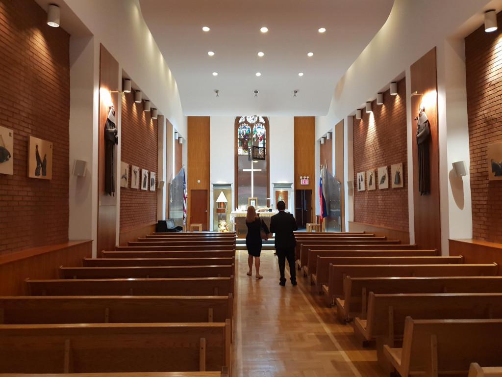 Notranjost cerkve svetega Cirila in Metoda na Manhattnu