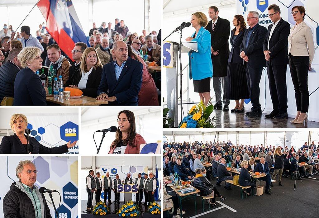 Srečanje članov in simpatizerjev SDS v Marezigah Foto tw