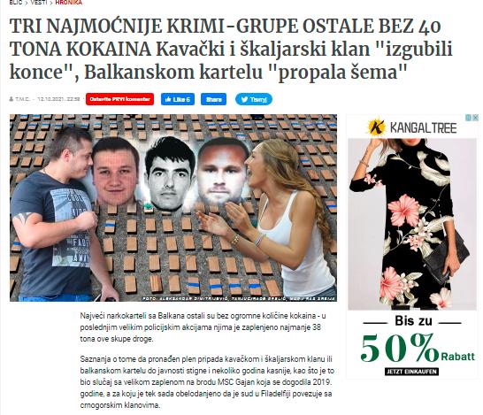 Naslovnica srbskega Blica. (Foto: Posnetek zaslona-Blic)