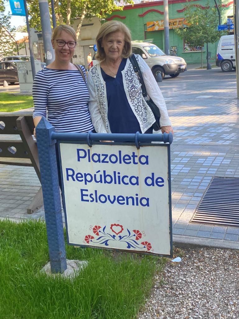 Trg republike Slovenije v Mendozi